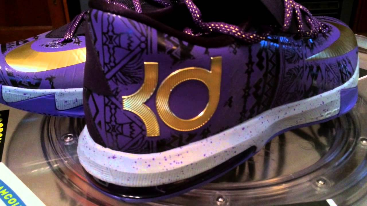 huge selection of d0615 0353d Nike KD VI (6) BHM - Purple Venom   Metallic Gold   Purple Dynasty - 2-9-14  - YouTube