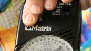 Matrix MR600 Metronome Review