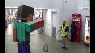 Real Life Minecraft Steve Visits Walmart
