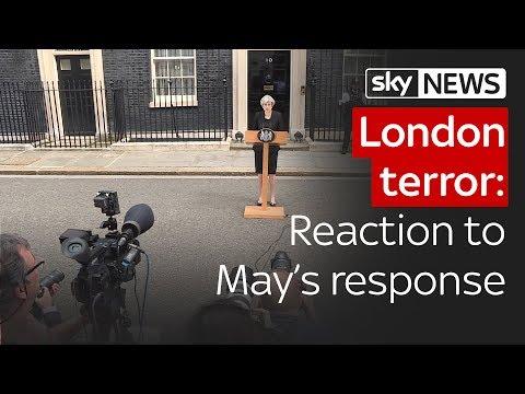 London terror: Reaction to Theresa May's response