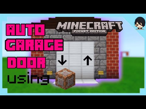 Mcpe How To Make Garage Door Using Command Block Minecraft Pe Youtube