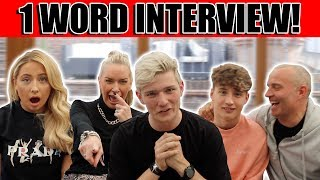 1 WORD INTERVIEW! (spilling the tea) FULL BARKER FAMILY!