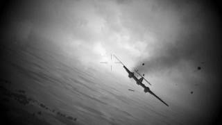 Gun Camera Footages from WarBirds Enhanced Graphics Beta (Grayscale)