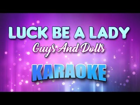 Guys And Dolls - Luck Be A Lady (Karaoke & Lyrics)