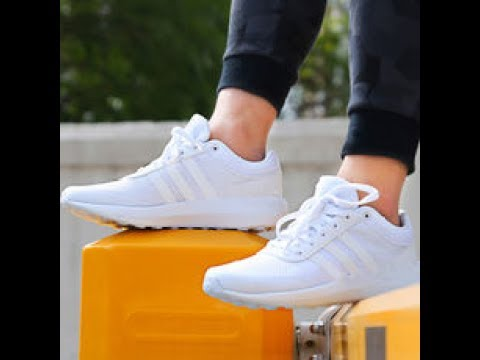 adidas cloudfoam race all white
