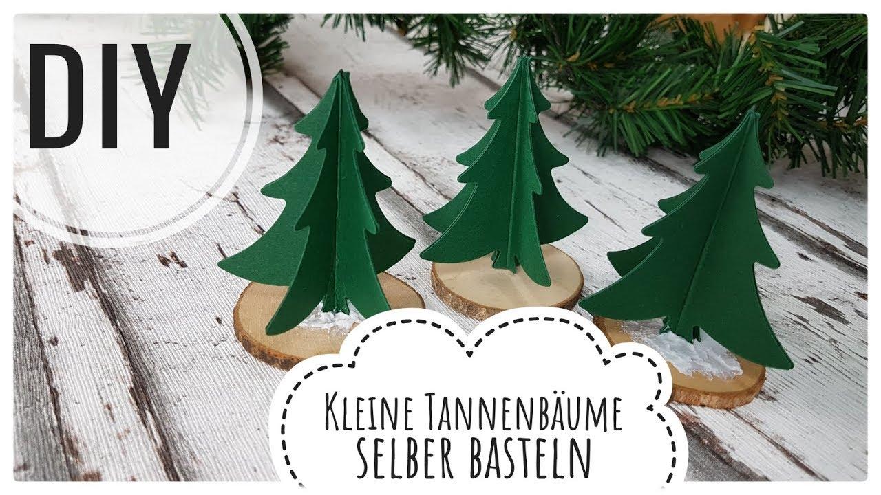 Kleine Tannenbaume Aus Papier Und Holz Selberbasteln Diy Tutorial