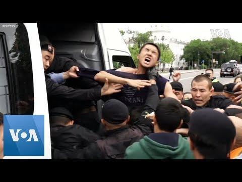 Dozens Detained In Kazakhstan as Nazarbaev's Chosen Successor Set to Win Election