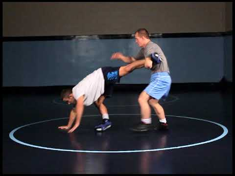 Top Wrestling Drills:  Return to Mat Using all Leg Drop Attacks