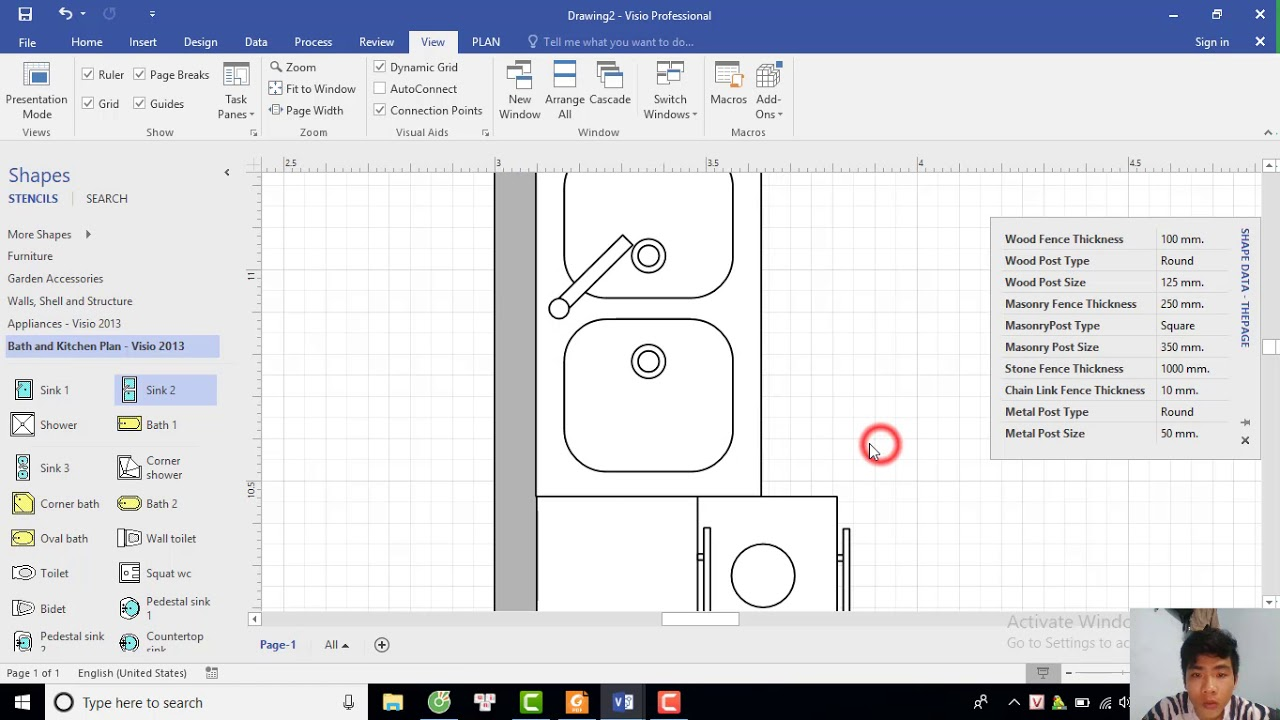 Hướng dẫn vẽ bản vẽ mặt bằng dùng VISIO 2016
