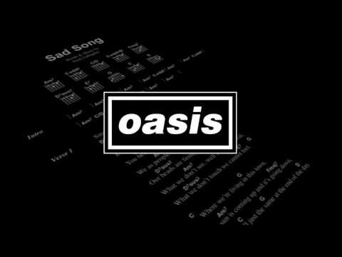 Oasis  Sad Song Rare Liam Gallagher Vocals
