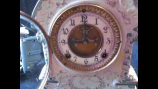 Ansonia Clock Company Antique Porcelain Mantle Clock