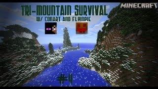 Minecraft: Tri-Mountain Survival w/ Conart & Flyinpie Ep.4: Underground Farm
