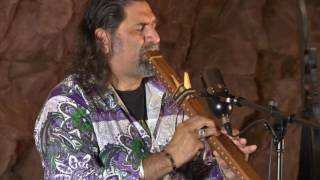 Steve Rushingwind & Steve Brown performing in the Grand Canyon Caverns