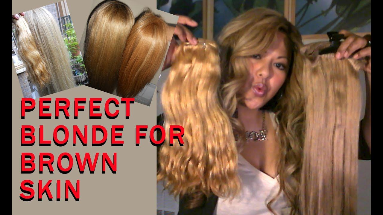 Best Blonde For Tan Brown Skin Youtube