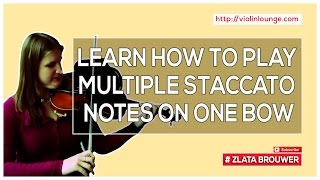How to Play Multiple Staccato Notes on One Bow