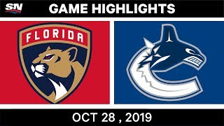 NHL Highlights   Panthers vs. Canucks – Oct. 28, 2019