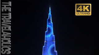 Burj Khalifa Tower light Show 4K youtube videos Dubai
