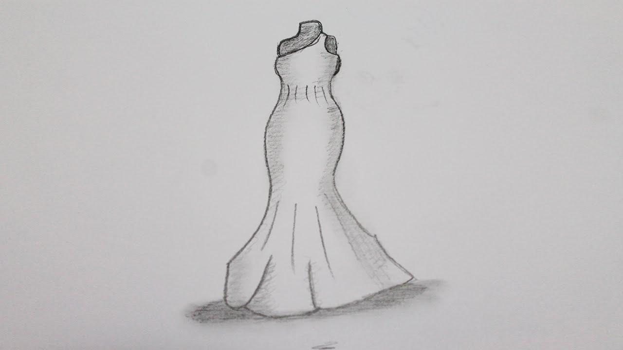 How to draw dresses youtube - Kleider zeichnen ...