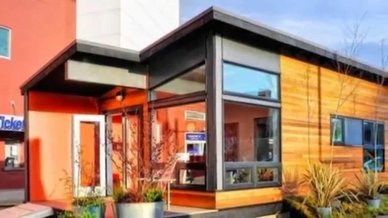 Modern Prefab Cabin 400 Sq Ft Studio37 Modern Prefab Cabin Youtube
