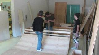 Time Lapse Building Mini Ramp + Skateboard Montage
