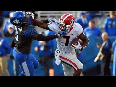 #6 Georgia Highlights Vs. #9 Kentucky 2018   CFB Week 10   College Football Highlights 2018