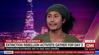 Chay Harwood interview with Bianca Nobilo | The Brief CNN BRK | Extinction Rebellion