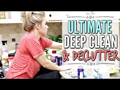 🙌 KONMARI METHOD KITCHEN DECLUTTER ORGANIZATION AND DEEP CLEAN | ULTIMATE CLEAN WITH ME 2018