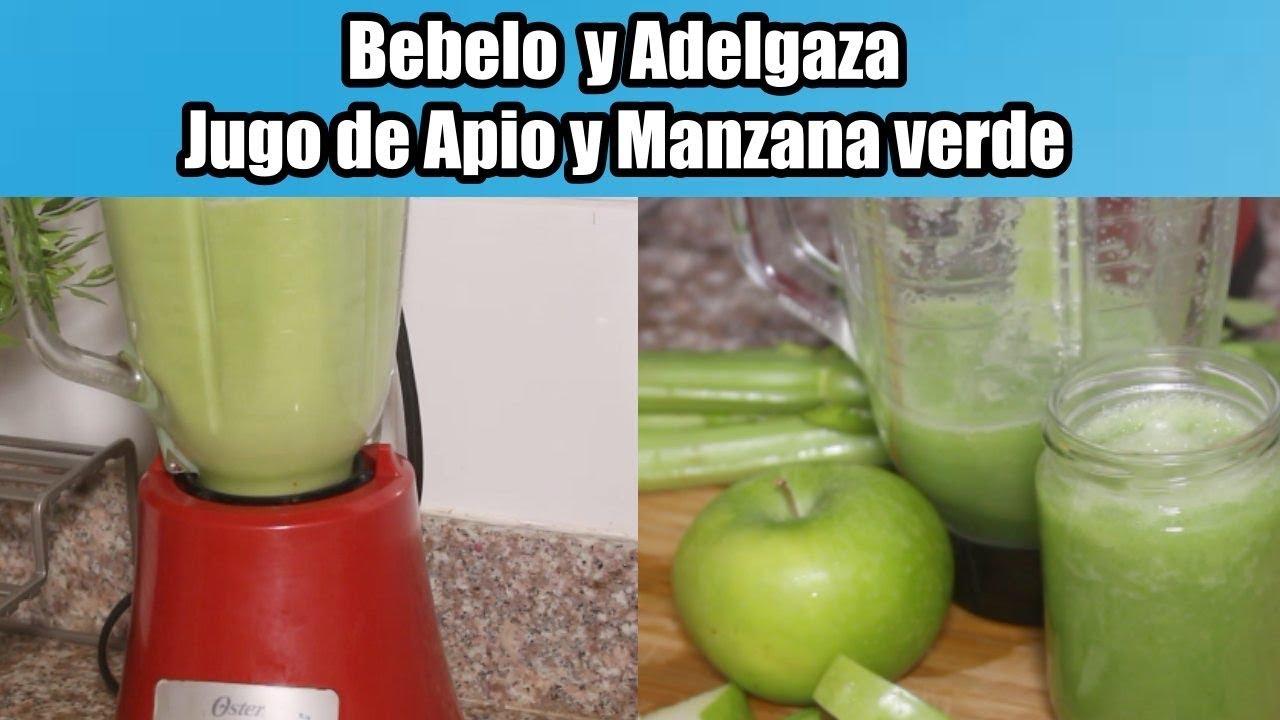 jugo de apio con manzana verde para adelgazar