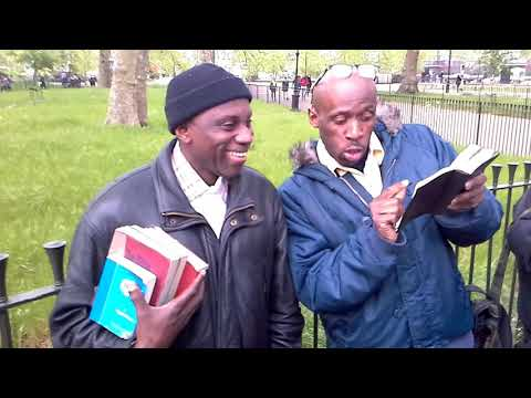 A MUST WATCH!!! MUHAMMAD LAMIN VS HUTSON!!! AN INTERESTING DEBATE AT SPEAKERS CORNER.