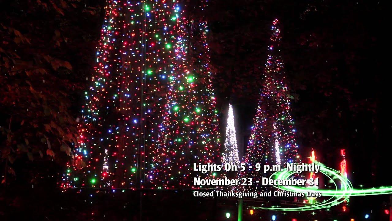 garvan woodland gardens christmas lights 2013 version2 - Garvan Gardens Christmas Lights