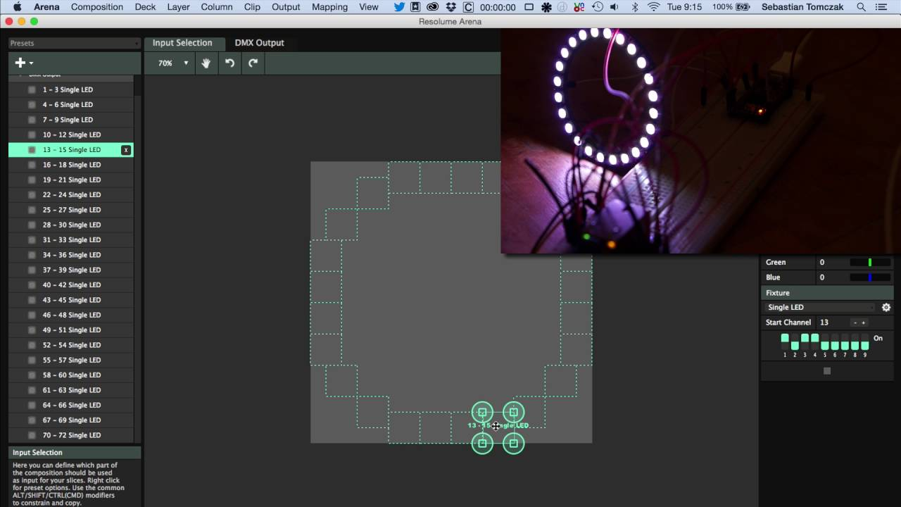 Resolume Arena VJ Software Mapped to a NeoPixel Ring @Resolume
