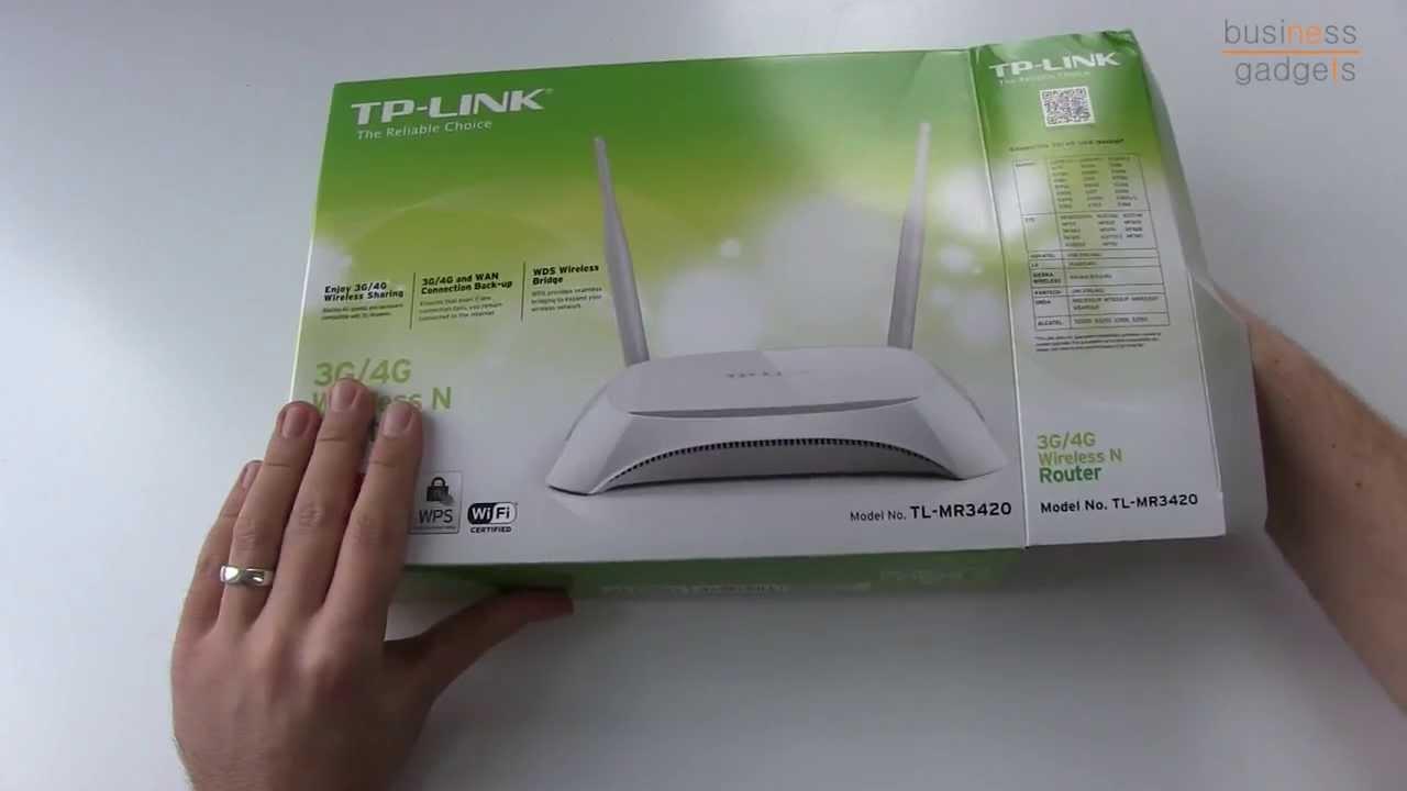Tp Link Tl Mr3420 3g 4g Wlan N Router Youtube Tplink Wireless