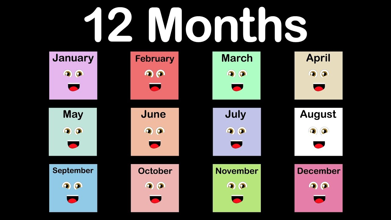 months of the year song12 months of the year songcalendar song