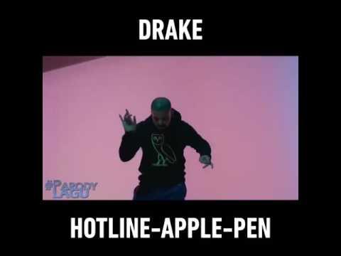Drake Apple Pen Hotline Bling version