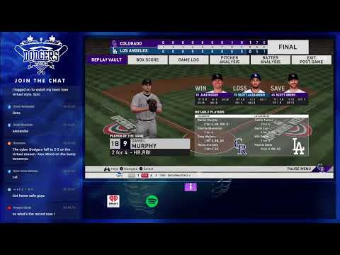 LA Dodgers Vs. Rockies Live Stream | David Price Vs. Jeff Hoffman | Game 4 | Virtual 2020 MLB Season
