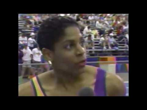 Dawn Sowell runs 10.78 - Women's 100m - 1989 NCAA Championships