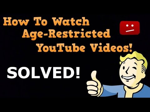 How to watch age restricted videos on youtube without signing in