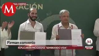 Así fue la reunión de AMLO y Nayib Bukele en Chiapas