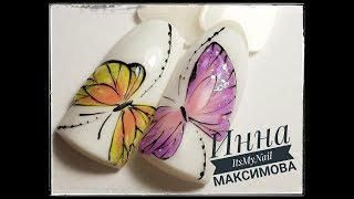 видео Бабочки гель лаком на ногтях