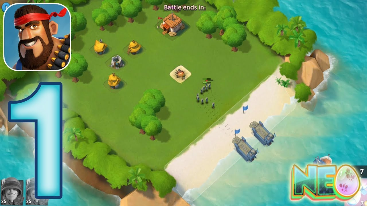 Download Boom Beach: Gameplay Walkthrough Part 1 - The Tutorial (iOS, Android)