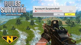 BANNED BECAUSE OF A GLITCH! (Rules of Survival)