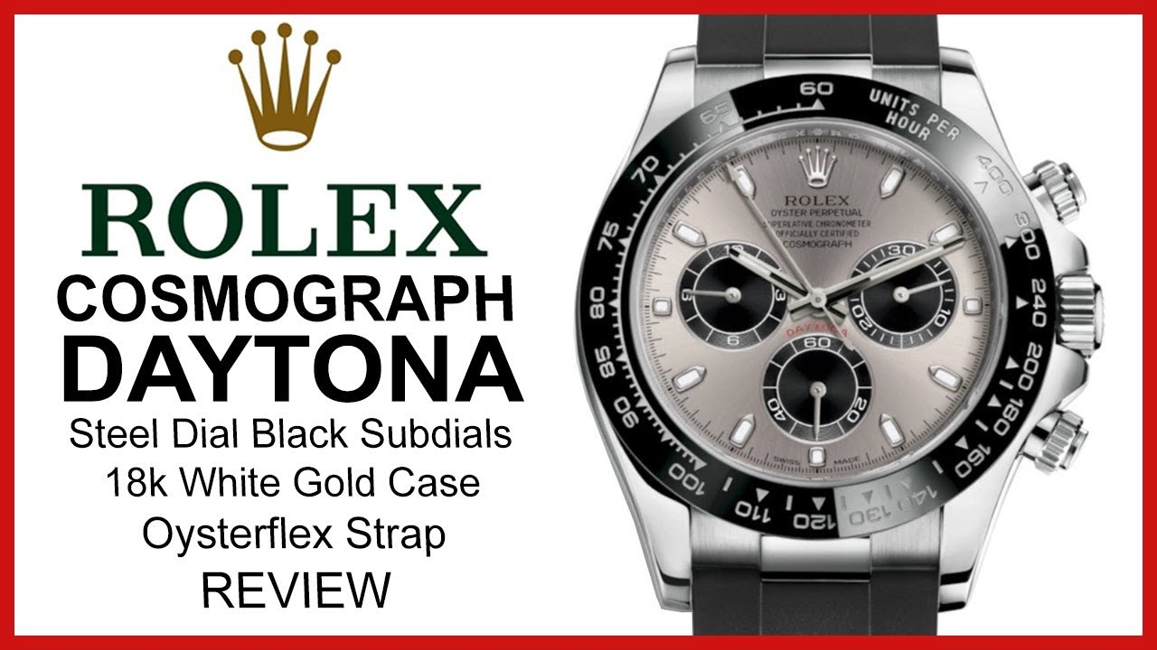 Rolex Cosmograph Daytona White Gold Steel Index Dial