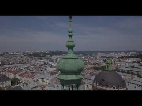 Lviv, Ukraine Dji Mavic pro drone footage 4K