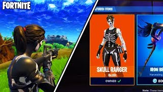 "*NEW* ""Skull Ranger"" + ""Skull Trooper"" HALLOWEEN SKINS in Fortnite... - (Fortnite Battle Royale)"