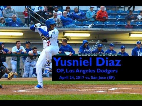 Yusniel Diaz, OF, Los Angeles Dodgers — April 24, 2017 Video