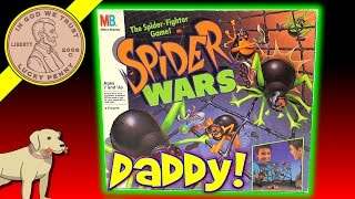 Are You Afraid Of Spiders? Play The Game Spider Wars Board Game! - Milton Bradley 1988