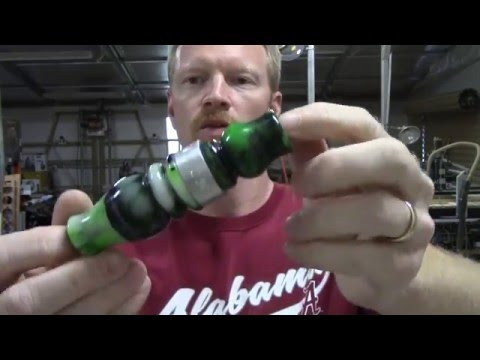 Reviews & How-To's #1 (Part 1 of 2: Duck Call Insert - How To Turn and Drill)