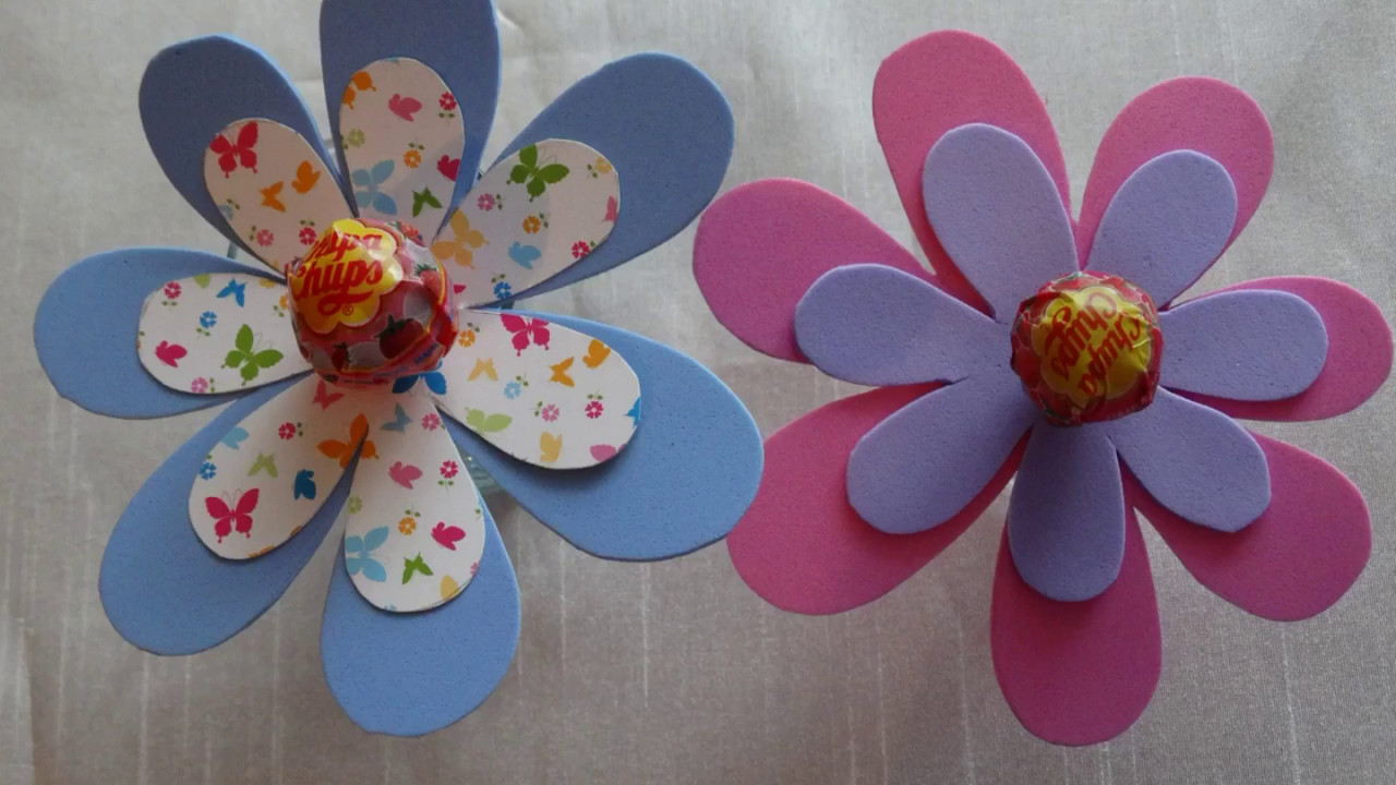 Diy Lollipop Chupa Chups Craft How To Make A Flower Using Decor