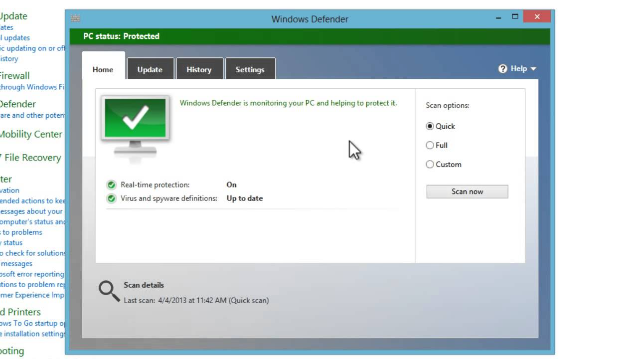 Windows 8 - How To Disable Anti-Virus Software Windows Defender