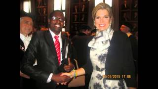 Nkosilathi Emmanuel Moyo meets Her Royal Majesty Queen Maxima of the Netherlands.